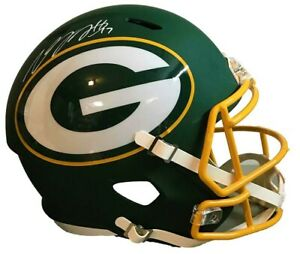 Davante Adams Autographed Green Bay Packers Full Size AMP Speed Rep Helmet JS...