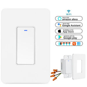Smart WIFI Light Switch For Alexa Google Home IFTTT With Remote Control