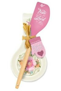 Taste and See Spoon Rest/Spatula Gift Set, Pink