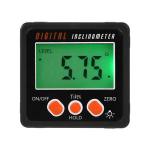 Digital Protractor Magnetic Angle Finder Bevel Level Inclinometer Measure Tools $9.99