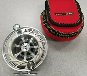 Hatch Finatic 11 Plus Large Arbor Fly Reel Good Shape!