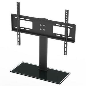 TV Stand Base With Universal Swivel Mount And Height Adjustable For 32