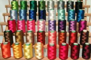 40 Christmas Colors Embroidery Threads for Brother Machine 500 Meters Spools $38.97