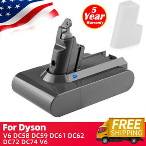 For Dyson Replacement Battery V6 Animal DC58 DC59 DC61 DC62 SV04 SV03 3800mAh