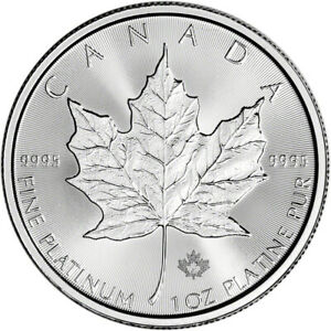 2020 Canada Platinum Maple Leaf 1 oz $50 BU