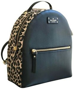 NWT Kate Spade New York Grove Street Leopard Sammi Backpack, WKRU5428