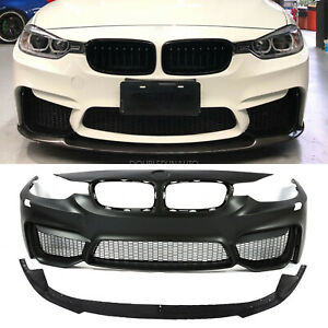 M3 Style Front Bumper Kit w Aero Lip For BMW F30 3-Series 12-18