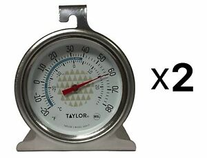 Taylor Precision Freezer Thermometer 2.5 Dial Durable Stainless Steel (2-Pack)