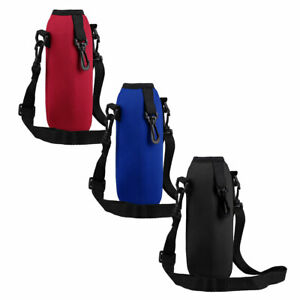 Neoprene Water Bottle Carrier Bag Insulated Thermal Case Cover Adjustable Strap $4.89