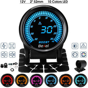 2'' 30 30 PSI LED Digital Car Auto Turbo Boost Pressure Gauge Meter W Sensor