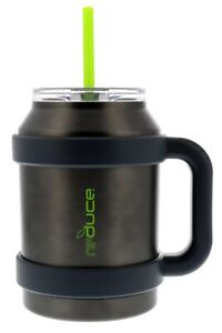 reduce COLD-1 Thermal Mug with Wide Bottom, 3-in-1 Lid & Straw, 50 oz
