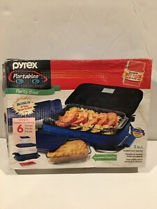Pyrexportablez Party Size 6 Pc Set New Opened Damaged Box