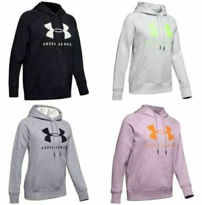 Under Armour 1348550 Women's UA Rival Fleece Sportstyle Graphic Loose Fit Hoodie $44.69