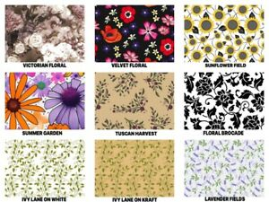 FLORAL Print Gift Tissue Paper Sheets - 15