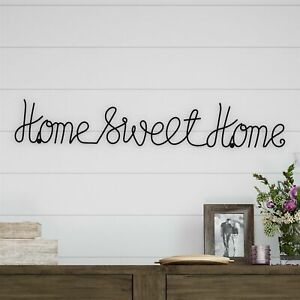 Home Sweet Home Cursive Metal Cutout Sign Rustic Decor Wall Hanging 32 Inch