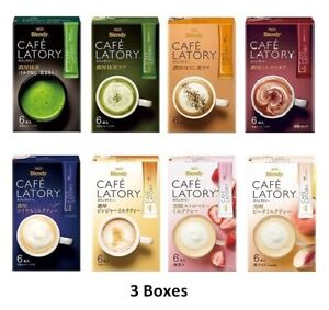 AGF Blendy Cafe Latory Series Set of 3 boxes Matcha Hojicha Cocoa Milk tea Stick $24.60