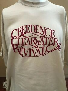 CREEDENCE CLEARWATER REVIVAL CCR LOGO ROCK MUSIC T SHIRT Proud Mary