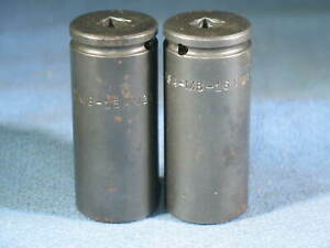 Lot of 2 APEX 1 4quot; Drive 6 Point Metric Square Drive Sockets MB 15mm21 MB 16mm21 $14.95