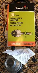 """Brand New! Char-Broil 4667 Propane Hose and Regulator 20"""" - Please See Pictures!"""