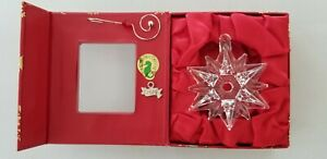 Waterford Mini Snowflake Lead Crystal Ornament with 2016 ribbon charm