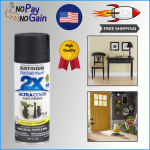 12 Oz Flat Black Multi Purpose Spray Paint For Metal And Wood Surface Oil Based