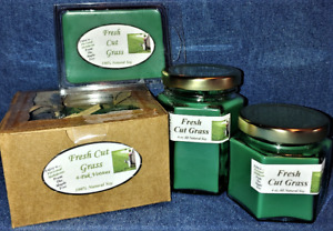 **NEW** Hand Poured Spring Scents Soy Candles Tarts & Votives - Fresh Cut Grass