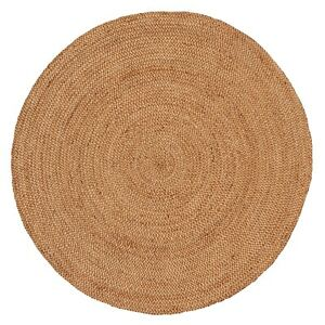 Natural Hand Woven Rigo Jute Round rug Round Flaw in Rug