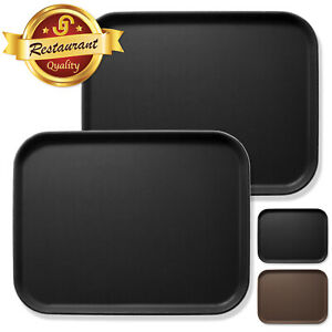 2pc Rectangular Restaurant Serving Tray NSF Certified Non Skid Food Service Tray