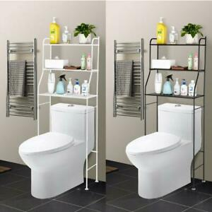 Bathroom Over The Toilet Organizer 3-Tier Iron Towel Storage Rack Space Saver