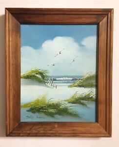 Signed Original Betty Moore Seascape Oil Painting.