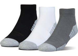Under Armour U326 Men's UA HeatGear Tech Lo Cut 3 Pack Athletic Socks 1303204 $13.99
