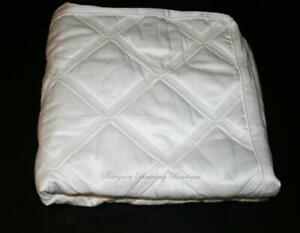 Hotel Collection Radiant EURO Pillow Sham Solid White Diamond Quilted Box Design $24.99