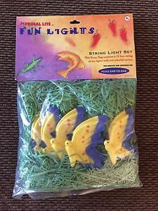 New Set Of 10 Colorful Yellow and Purple Butterfly Primal Lite Novelty Lights