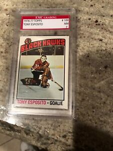 1976 77 Topps #100 Tony Esposito Certified NM. Hall Of Fame BLACKHAWKS $12.99