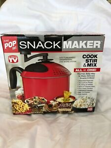 Just Pop It Snack Maker in Red As Seen On TV Brand New Factory Sealed Popcorn