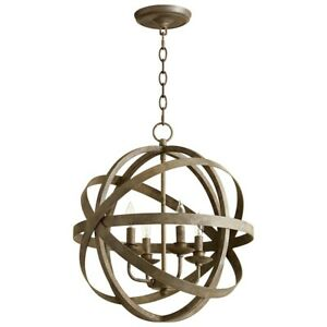 Cyan Design Gladwin 4 Light Pendant Distressed Zinc - 7965