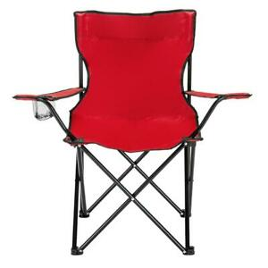 Patio Furniture Folding Camping Chair Beach Seat Fishing Picnic Outdoor BBQ
