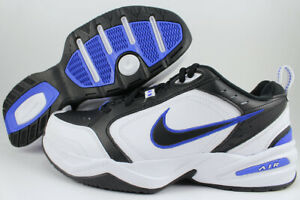 NIKE AIR MONARCH IV 4 EXTRA WIDE 4E EEEE BLACK WHITE ROYAL BLUE TRAINER MEN SIZE