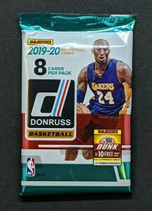 2019 20 PANINI DONRUSS NBA Basketball 1 NEW RETAIL PACK 8 CARDS MORANT? ZION?
