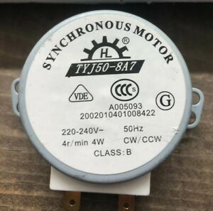 Microwave Oven Tray Motor 220-240V 4W Synchronous Motor for TYJ50-8A7