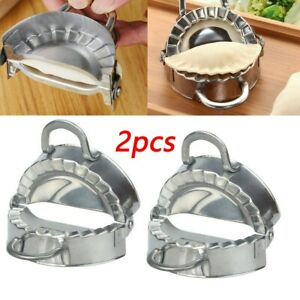 2PC Eco-Friendly Pastry Tools Stainless Steel Dumpling Maker Wraper Do