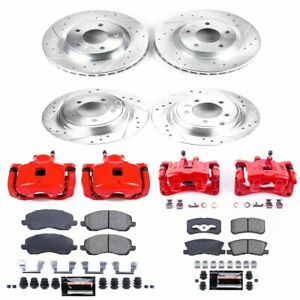 KC2848A Powerstop Brake Disc and Caliper Kits 4-Wheel Set Front