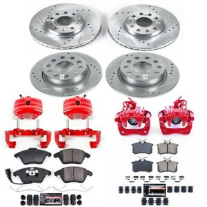 KC5749 Powerstop 4-Wheel Set Brake Disc and Caliper Kits Front & Rear New for VW