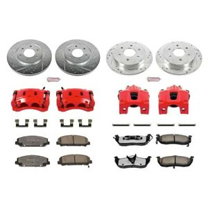 KC2805-36 Powerstop 4-Wheel Set Brake Disc and Caliper Kits Front
