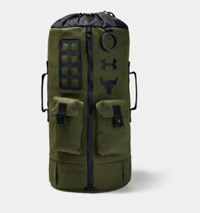 Under Armour Project Rock 60 Duffle Bag BackPack Green #1345663 Free Shipping $84.99