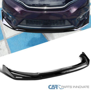For 14 17 Honda Fit Glossy Black PP Front Bumper Lip Spoiler 3PC Set Style