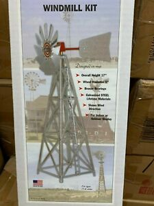 G Scale 17quot; All Metal Outdoor Windmill Easy to Assemble Kit Galvanized LGB Size $31.95