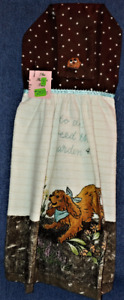 NEW Handmade Time To Weed The Garden! Hanging Kitchen Hand Towel #2350