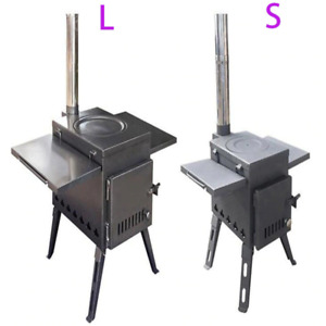 Outdoor Energy Saving Firewood Stove Portable Picnic BBQ Camping Supplies Smoke