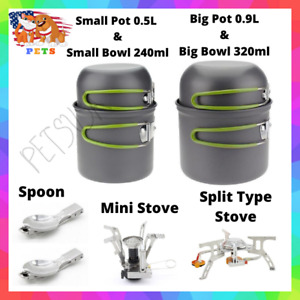 Camping Supplies Stove Cooking Food Outdoor Cookware Set Essentials Equipment